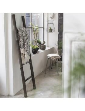 Echelle porte serviette en bambou black