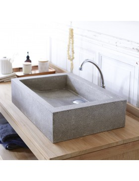 Vasque en terrazzo Pegase grey 60