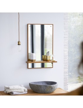 Miroir en teck Galyno 75x45