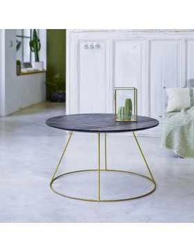 Table basse en manguier 80 Liv