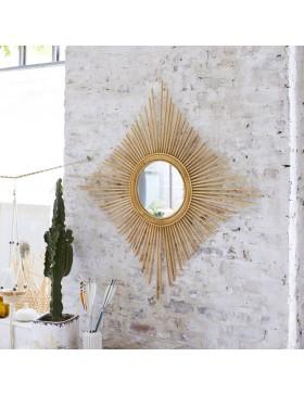 Miroir en rotin 80 Isidore naturel
